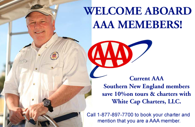 AAA Discount for White Cap Charters Tours and Cruises